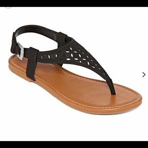 "AZ Jean - Black ""Seymour"" Sandals"